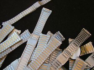 lotto bracciali orologio in acciaio e placcato  oro 25 pezzi