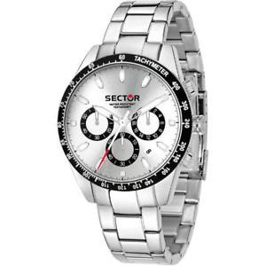 【送料無料】orologio da uomo sector 245 cronografo crono sportivo con cinturino in acciaio
