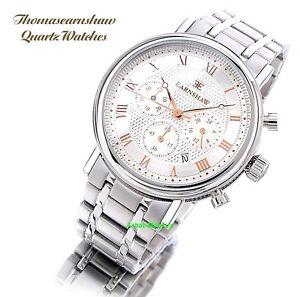 【送料無料】thomas earnshaw mens beaufort collection chronograph luxury watch