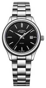 【送料無料】rotary womens oxford stainless steel bracelet lb0509204 watch 17