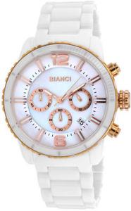 【送料無料】roberto bianci mens amadeo swiss quartz chrono mop white ceramic watch rb58752
