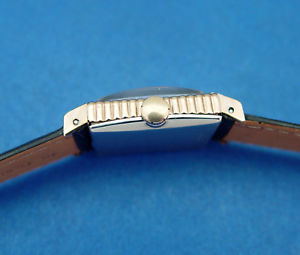 *serviced* men wittnauer by longines 40s **hooded lugs amp; ribbed sides bezel**