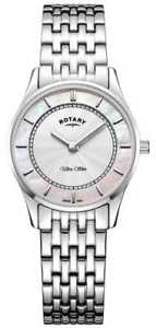 【送料無料】rotary womens ultra slim silver tone bracelet lb0830007 watch 21