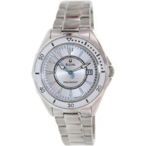 【送料無料】bulova womens 96m123 winter park classic round bracelet watch