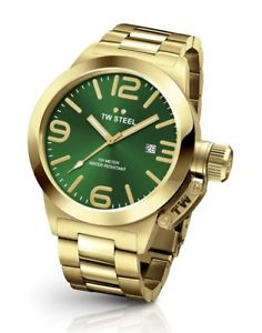 【送料無料】tw steel cb221 mens green 45mm canteen watch 2 years warranty