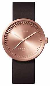 【送料無料】leff amsterdam d38 rose gold case brown leather lt71032 watch 9