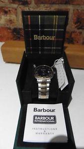 【送料無料】barbour beacon watch bb0185ltt mens two tone steel amp; gold plate in box