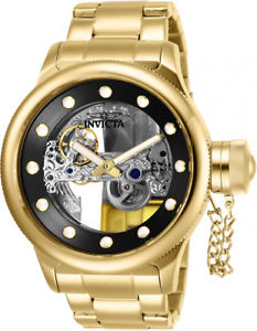 invicta mens russian diver automatic 100m gold tone stainless steel watch 26270