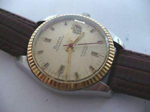 【送料無料】wow vtg bulova oceanographer 10k fluted bezel mans automatic wristwatch68