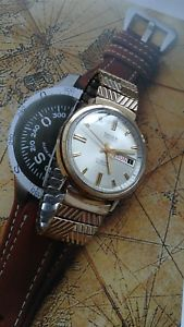 1970s gruen precision mens automatic 17 jewel swiss made wrist watch