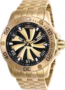 25850 invicta mens 49mm speedway automatic goldtone stainless steel watch