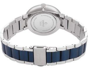 obaku womens quartz mop two tone stainless steel watch v189lxclsl