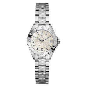 【送料無料】 nwt guess collection gc xls mini lady watch ss bracelet g68001l1 mop date