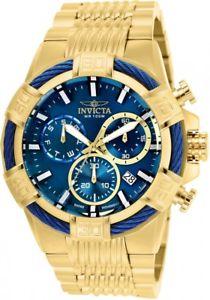 【送料無料】invicta mens 25866 bolt goldtone stainless steel watch brand worldship nwt