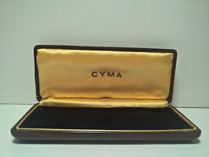 ultra rare vintage cyma 194050s chrongraph watch box
