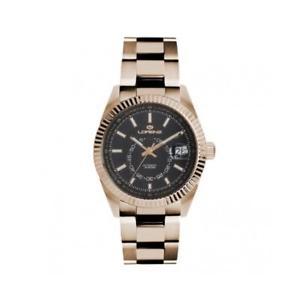 【送料無料】orologio uomo automatico lorenz 030090ff bracciale acciaio ros nero sub 100mt