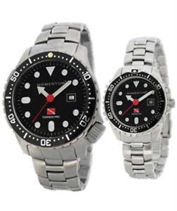 【送料無料】momentum torpedo pro watersport dive watch wstainless steel bracelet large