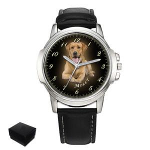【送料無料】personalised, custom mens wrist watch your photo pets, dogs engraving gift xmas