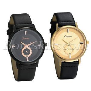【送料無料】men simple causal charm leather strap quartz analog dress decoration wrist watch