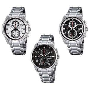 【送料無料】orologio cronografo uomo festina f6842 cassa acciaio cinturino acciaio data
