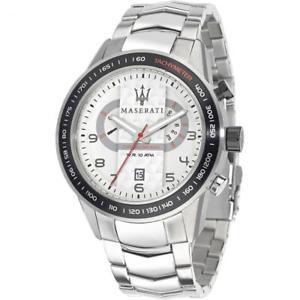【送料無料】maserati orologio maschile corsa r8873610001 grande bianco cronografo datario