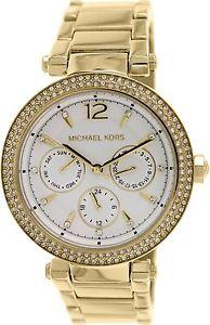【送料無料】michael kors womens ladies parker chronograph gold tone watch mk5780 rrp 229