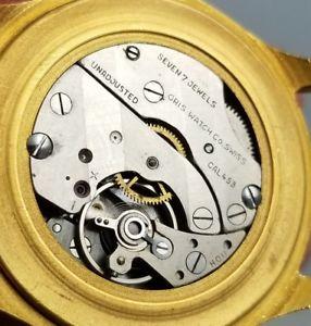 vintage oris calendar date pointer mens manual wind wrist watch  caliber 453
