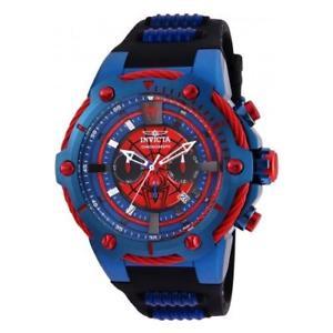 【送料無料】invicta mens marvel quartz chrono stainless steel silicone watch 25688
