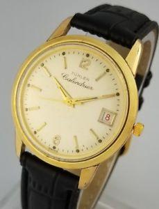 【送料無料】vintage turler calendrier date mens manual wind wrist watch venus 220 277