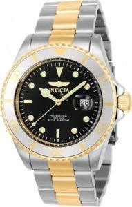 【送料無料】 mens invicta 23385 pro diver two tone bracelet watch