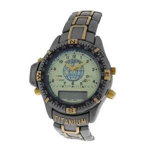 【送料無料】mens 2000 millenium eco drive titanium multifunction quartz watch