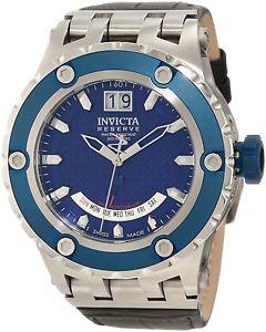 【送料無料】invicta reserve 10092 specialty mens stainless and leather watch