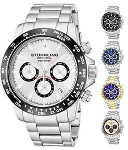 【送料無料】stuhrling 891 mens sport formula i stainless steel chronograph watch