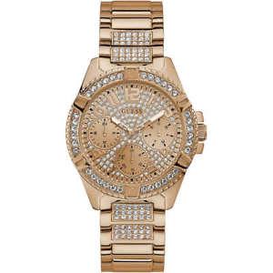 【送料無料】orologio guess lady frontier w1156l3 watch multifunzione donna zirconi dorato