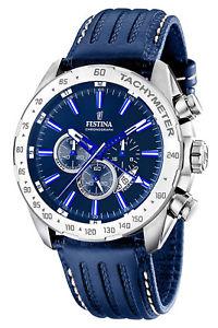【送料無料】festina herrenuhr dual time chronograph chrono f16489b