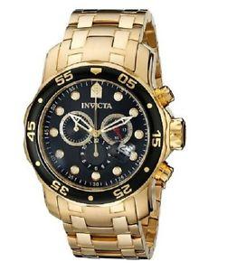 【送料無料】invicta mens pro diver 0072 18k goldplated watch