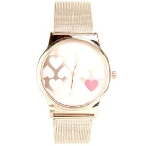 montre femme maille milanaise or rose mymontre