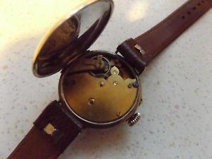 silver military wristwatch glasgow 1917