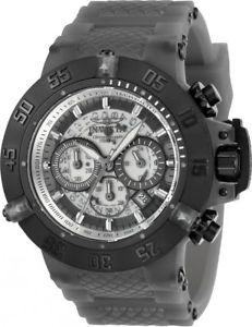 【送料無料】24368 invicta mens subaqua noma iii chronograph grey silicone strap watch