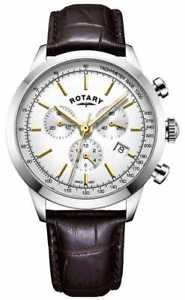 【送料無料】rotary mens cambridge chronograph leather gs0525302 watch 33
