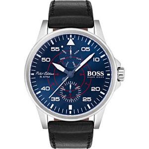 【送料無料】hugo boss aviator watch 1513515, pilot edition mens sport casual wristwatch