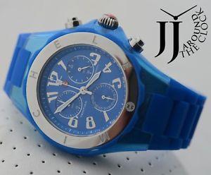 michele tahitian jelly bean large swiss blue glitter watch mww12f000074