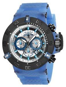 【送料無料】invicta 24366 mens light blue plastic amp; silicone strap dive watch