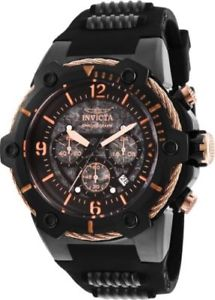 【送料無料】25469 invicta 515mm mens bolt steel amp; polyurethane strap chrono watch