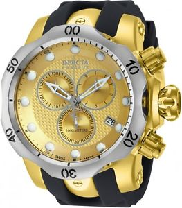 【送料無料】invicta mens venom chronograph stainless steel polyurethane 1000m watch 16151