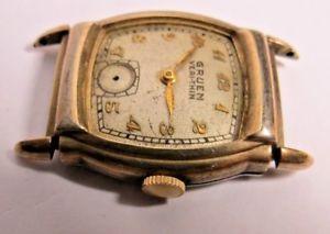 vintage swiss mens gruen verythin conoruma 15j winding wristwatch gold f beze