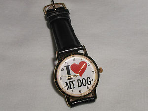 【送料無料】i love my dog watch christmas gift for dog lovers adult size