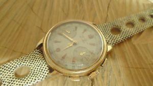 送料無料 chronographe suisse ancien mcanique eska pl 当店限定販売 neuf corfam or bracelet 48 倉庫 landeron