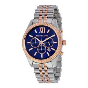 【送料無料】orologio cronografo uomo michael kors mk8412 cassa acciaio quadrante blu ros