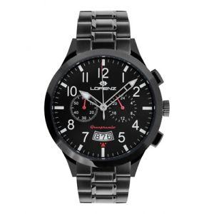 【送料無料】orologio lorenz granpremio uomo acciaio nero rosso 30105bb